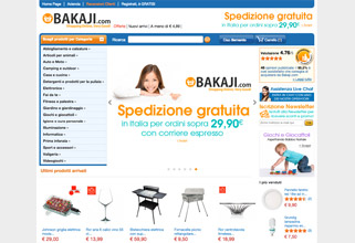 Sito Web E-commerce + Sync Amazon Ebay E-price Bakaji.com