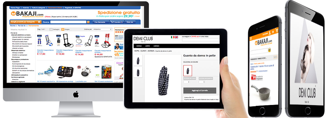 Siti web e-commerce Responsive